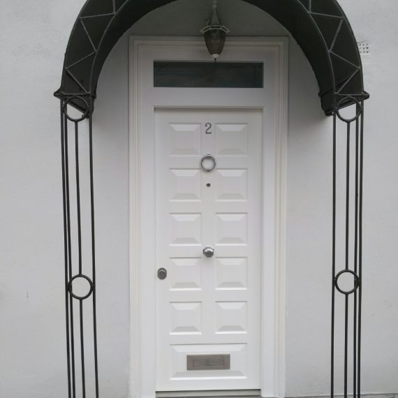 Security doors white